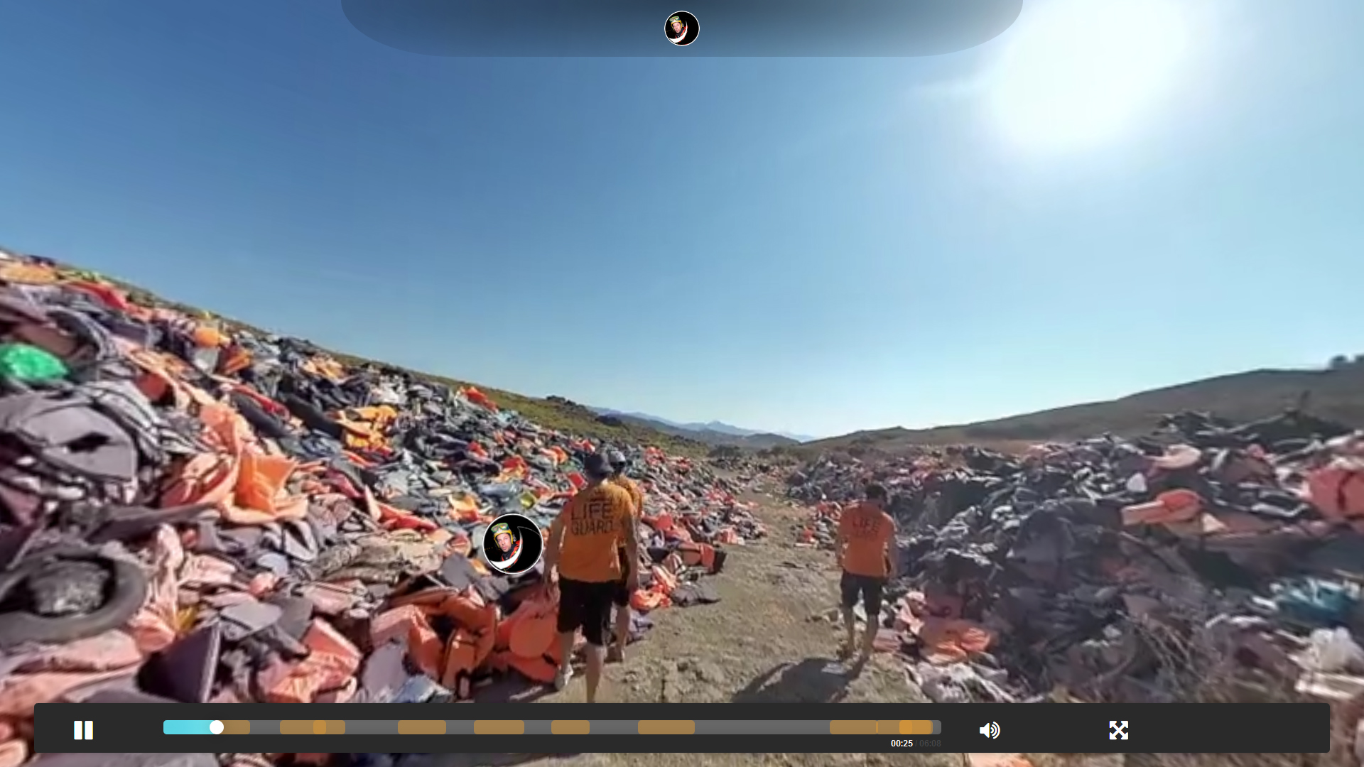 Automatic view tracking in 360º multimedia using xAPI